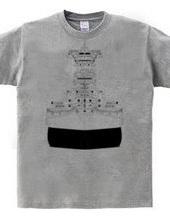 Battleship 01 (black and white