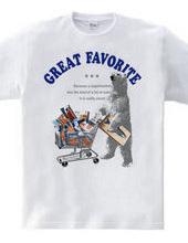 White bear. Going to the supermarket: