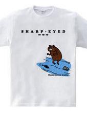 獲物を狙う目-クマ-