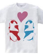 Moai Couple (heart)
