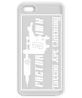 タトゥー マシン モチーフ ロゴ(白) ケース  iphone5,5s,6