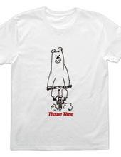 クマが自転車に乗っているTシャツ