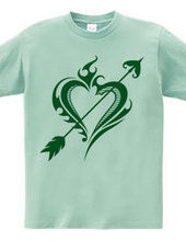 Heart tribal Steal Your Heart-Green
