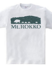 ウリボウ六甲山シルエットTシャツ-No.2山登り