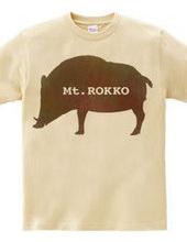 Rokko mountain boar T shirt watercolor f