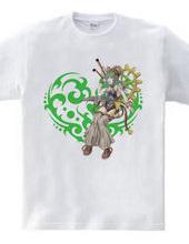 Heart type3 -スチームパンク風の女性- Green