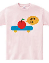apple on skateboard