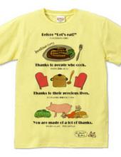 金沢弁Tシャツ~いただきますの前に~
