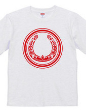 Horseshoe tribal design 01-Red-