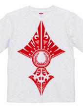 Horseshoe tribal design 02-Red-