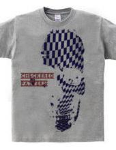 Checkered pattern skull