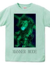 Deep blue lion