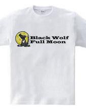 Black Wolf Full Moon