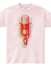 Red microphones