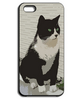 Taxed cat black & white iPhone