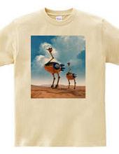 Ostrich robot 001 / front print
