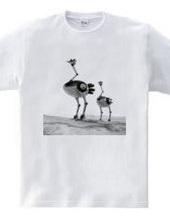 Ostrich robot 002 / monochrome