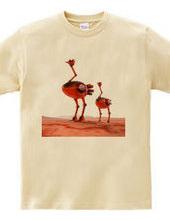 Ostrich robot 003 / Red