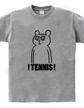 テニス クマの目にボール
