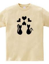 EL MAU Leather Cat / Black Heart