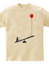 ペンギンと風船とシーソー