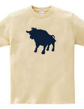 Zooシャツ 雄牛、強し