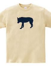 Zooシャツ 孤高の狼