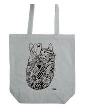 Circle the cat tote bag