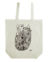Circle the cat tote bag