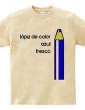 Colored pencil blue