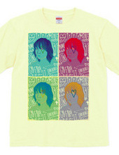 Pop art-like girl T shirt