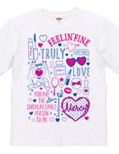 MAKE UP hand-drawn illustration t-shirts