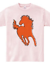 Zoo-Shirt   Horse running with the hair