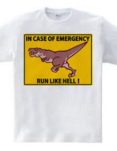 IN CASE OF EMERGENCY    RUN LIKE HELL!