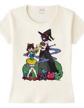 白雪ちゃんと毒魔女様Tシャツ