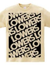 LOWERS ALL LOGO BLACK TEE
