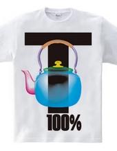 100%Tやかん(blue)