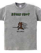 BILLIARDS -Break shot