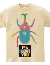 I love you. colorful beetles.