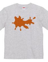 オレンジ色のペンキ