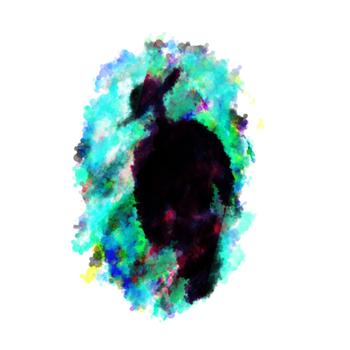オパール色の影男
